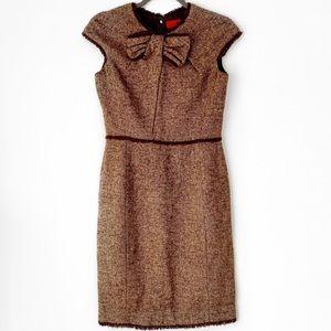 Carolina Herrera Tweed Wool Formal Dress